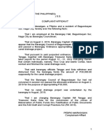1. Complaint Affidavit Filed With the Ombudsman