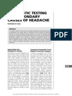 13 Diagnostic Testing of Headache