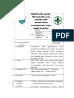 8.1.3.2a Sop Pemantauan Waktu Penyampaian Hasil Pemeriksaan Laboratorium Pasien Urgent Atau Gawat Darurat