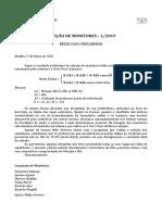 Monitoria Fga Resultado Preliminar 1 2019
