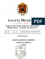 Bando Municipal de Metepec