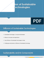 DIffusion of  sustainable technology