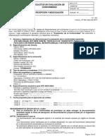 Solicitud de Evaluacion de La Conformidad (041,043,038 y2664) Mayo 2017