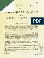 Novo Testamento Almeida 1693 - Epístola de Paulo Aos Filipenses