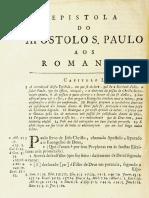Novo Testamento Almeida 1693 - Epístola de Paulo Aos Romanos