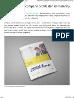 Cara Membuat Company Profile Dan Isi Materinya