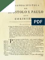 Novo Testamento Almeida 1693 - Segunda Epístola de Paulo Aos Coríntios