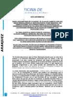 NOTA Prensa - Pleno Extraordinario desconvocado ilegalmente por Jesús Dionisio