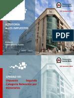 Auditoria en Impuestos UNAB - Unidad VII.pptx