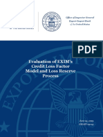 Redacted Evaluation of EXIM CLF Model and Loss Reserve Process June 19th, 2019 37-pages
