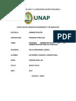 Los Sistemas Administrativos de La Administración Pública Peruana