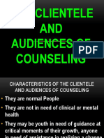 The Clientele and Audiences of Counseling