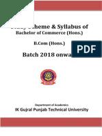 B. Com syllabus