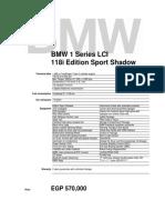 BMW 118i LCI Edition Sport Shadow