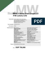 BMW 418i GC LCI Luxury Line