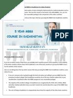 Mbbs Course in Kazakhstan