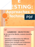 Language Testing - Approaches and Techniques.pptx