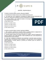 Cp Iuris - Processo Penal Ix - Questoes