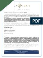 CP Iuris - PROCESSO PENAL X - Questoes Comentadas