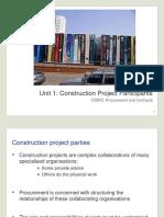 Unit 1 Lecture Slides Construction Project Participants3