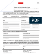 Tax release form