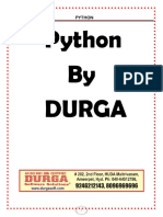 Python Durga Notes