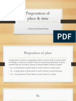 Preposition of Place Time