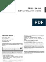 oliveti dm 524 GUIDA ALL'INSTALLAZIONE E ALL'USO