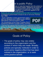 2What is Public Policy