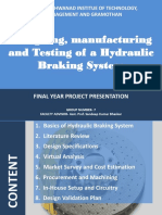 Design,Manufacturing and Testing of Hydraulic Braking System