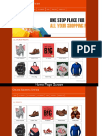 PHP and MySQL Major Project on Online Shopping System Screens