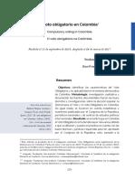 El Voto Obligatorio en Colombia
