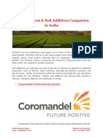 Best Fertilizers & Soil Additives Companies in India