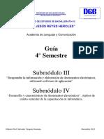 Guía de Informática 4° Semestre
