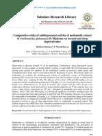 Comparative study of antidepressant activity of methanolic extract of Nardostachys Jatamansi DC Rhizome on normal and sleep deprived mice