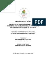Tesis - Las Políticas Públicas de Participación Ciudadana Del Ine