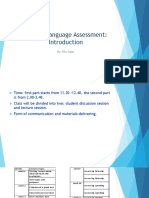 introduction to English assessment