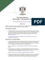 City News Monitor 26 Oct