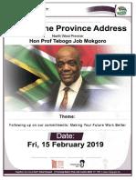 Speech by Premier Job Mokgoro 2019