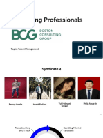 Developing Professionals BCG Way