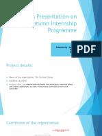 Autumn Internship Project Ppt