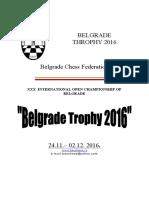 Bulletin Beograd OPEN 2016
