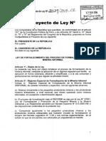 Proyecto de Ley 5139 2015 Sobre Formalización Minera
