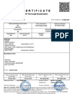 LOAD CELL CERTIFICATE INSPECTION
