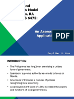 An Assessment on its Application of Fiscal Federalism
