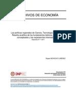 Las políticas regionales de Ciencia, Tecnología e Innovación