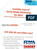 DMA 2013 Nine Immutable Laws of Social Media