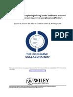 cochrane review of antibiotics in dentistry