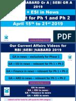 Attachment RBI-NABARD-SEBI 2019 GA ESI in News 15th to 21st April Pptx Lyst3772