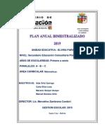 Planificacion Matematicas Secundaria